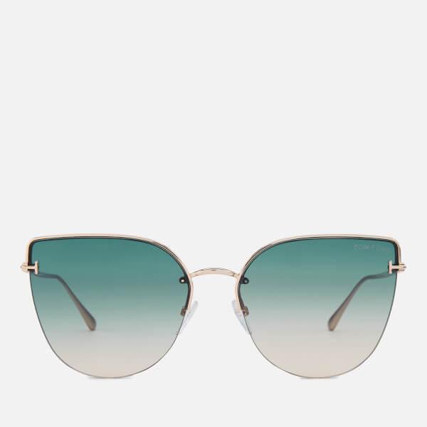 Tom Ford Women's Ingrid 02 Sunglasses - Rose Gold/Green