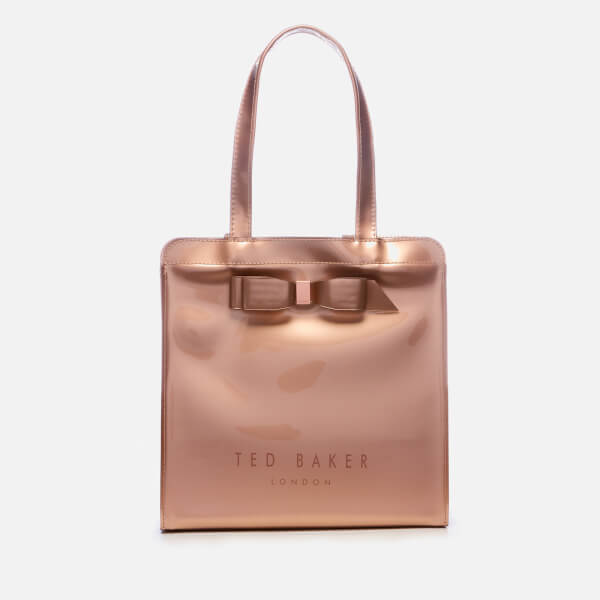 796c9d1a4ce Ted Baker Women's Arycon Bow Detail Small Icon Bag - Rose Gold: Image 1