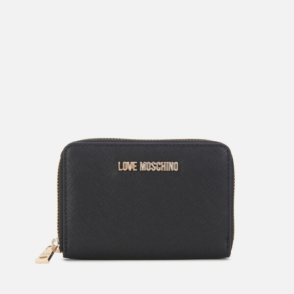 0ad8418d23f7 Love Moschino Women s Small Zip Around Wallet - Black  Image 1