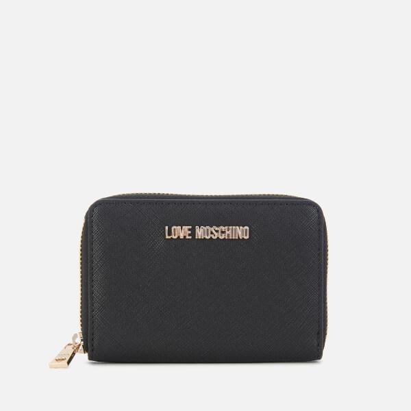 Love Moschino Women's Small Zip Around Wallet - Black