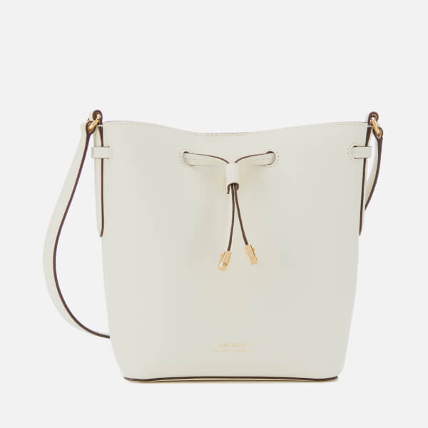 71451b2ba964 Lauren Ralph Lauren Women s Super Smooth Leather Debby Drawstring Bag -  Vanilla Brown  Image