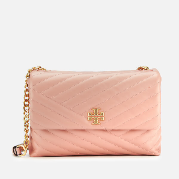 Tory Burch Women's Kira Chevlon Flap Shoulder Bag - Pink Moon