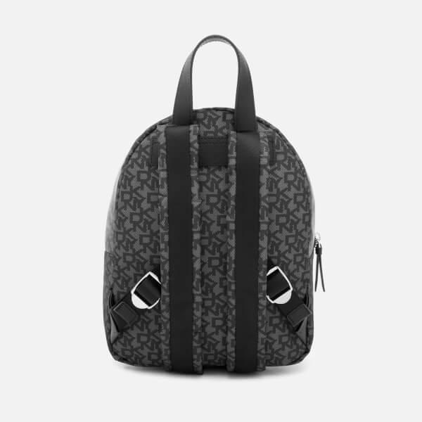 DKNY Women s Casey Medium Backpack - Black Logo  Image 2 1938cd1bcbba8