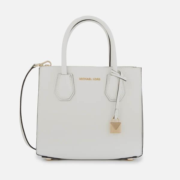 ffb95d7cb6 MICHAEL MICHAEL KORS Women's Mercer Medium Acordian Messenger Bag - Optic  White: Image 1
