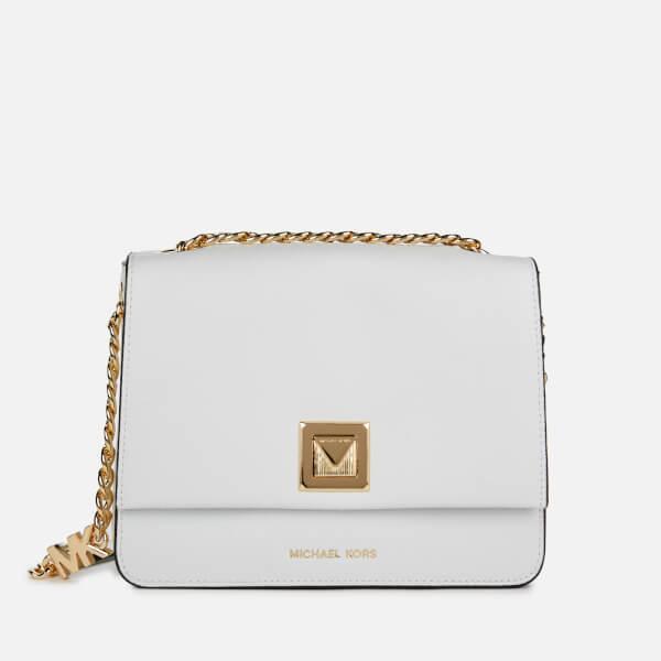 3bebb4a6f6cd MICHAEL MICHAEL KORS Women s Sylvia Medium Messenger Bag - Optic White   Image 1