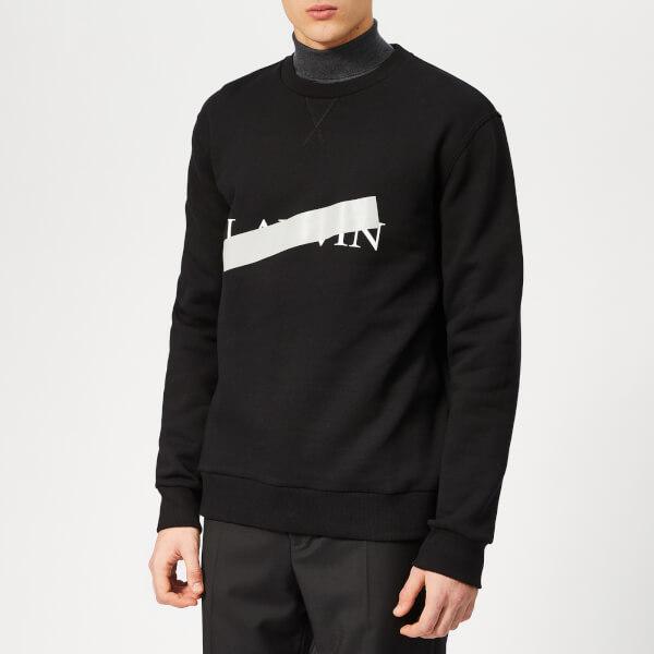 Lanvin Men's Lanvin Barre Print Sweatshirt - Black
