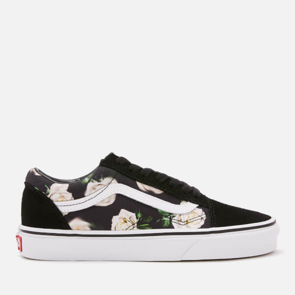 e89264900215 Vans Women s Romantic Floral Old Skool Trainers - Black True White  Image 1