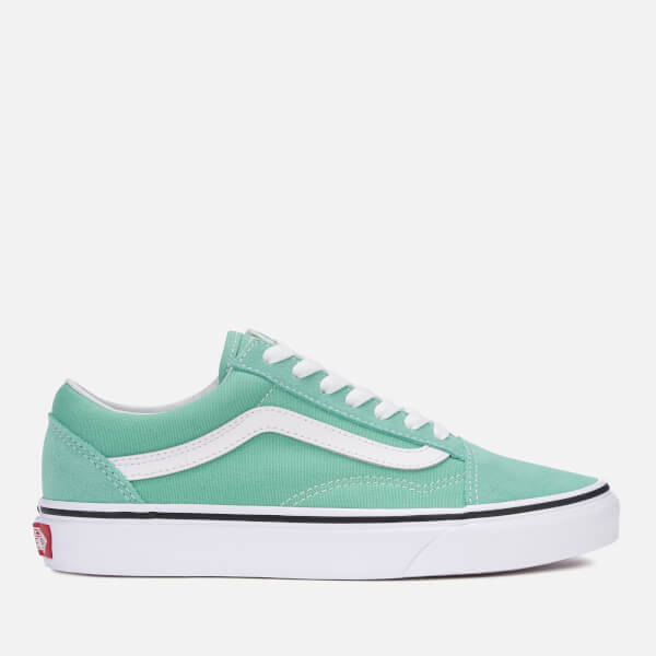 7bd940c1b2d7 Vans Women s Old Skool Trainers - Neptune Green True White  Image 1