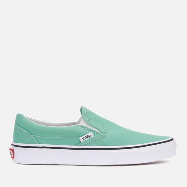210b988e06 Vans Women s Classic Slip-On Trainers - Neptune Green True White  Image 1