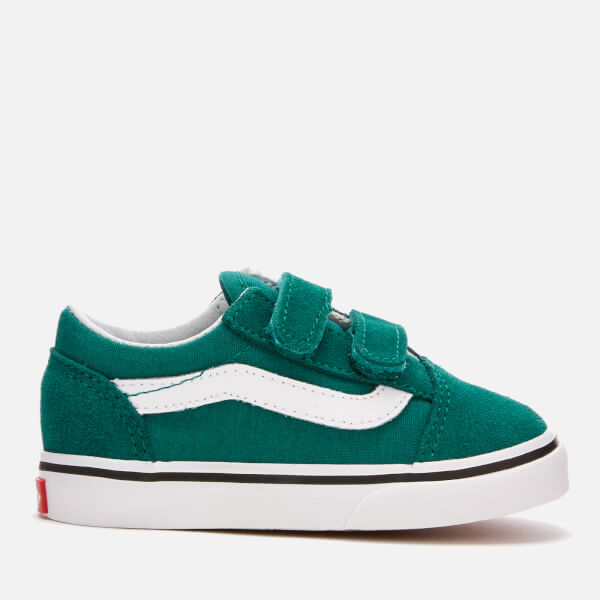 e86086b2f3 Vans Toddlers  Old Skool Velcro Trainers - Quetzal Green True White  Image 1