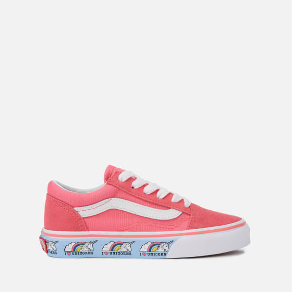 82a7f4f4c0 Vans Kids  Unicorn Old Skool Trainers - Strawberry Pink True White  Image 1