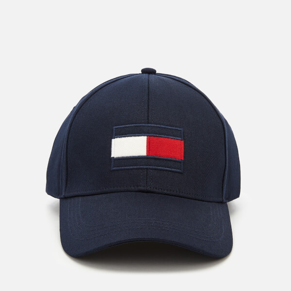 Tommy Hilfiger Men's Large Flag Baseball Cap - Tommy Navy