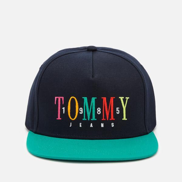 Tommy Hilfiger Men's Embroidered Cap - Black Iris/Green