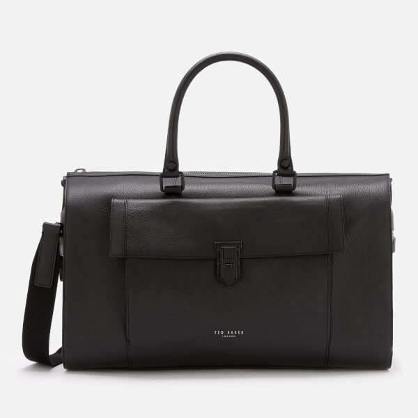 Ted Baker Men's Starmo Coloured Leather Holdall Bag - Black