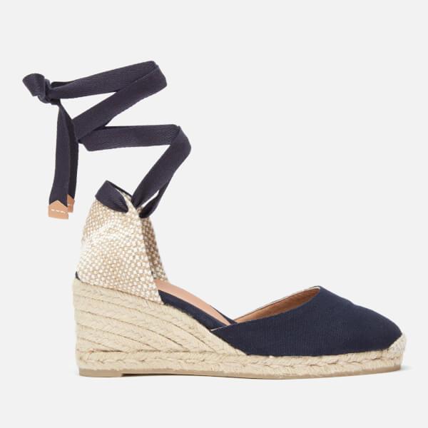 Castaner Women's Carina Espadrille Wedged Sandals - Azul Marino