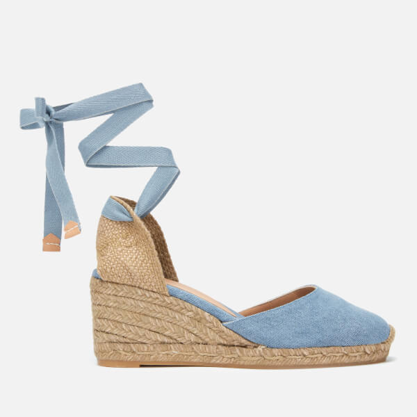 0854aaae470f Castaner Women s Carina Espadrille Wedged Sandals - Jeans Claro  Image 1