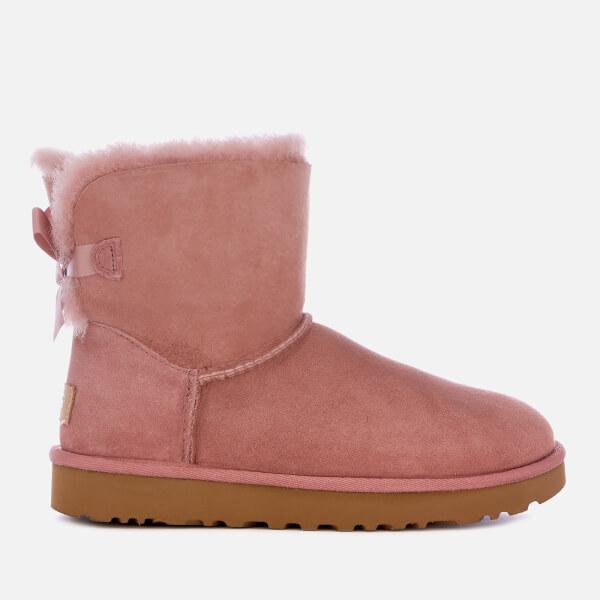 UGG Women's Mini Bailey Bow II Sheepskin Boots - Pink Dawn