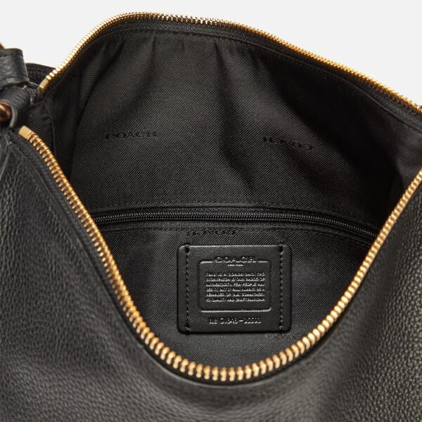 68014d307af1 Coach Women s Polished Pebble Leather Sutton Hobo Bag - Black  Image 5