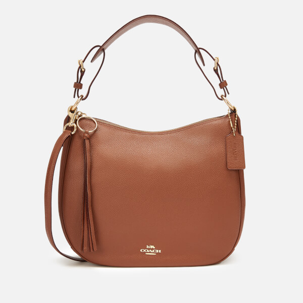 Coach Women's Polished Pebble Leather Sutton Hobo Bag - 1941 Saddle