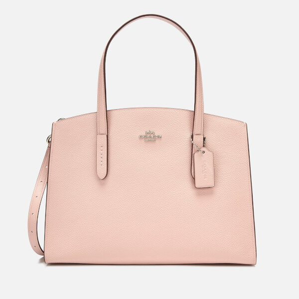 b0df6d93f9 Coach Women s Polished Pebble Leather Charlie Carryall - Blossom  Image 1