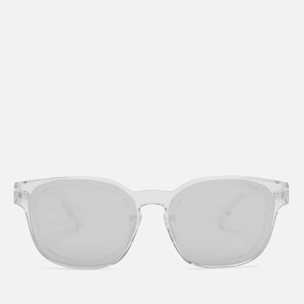 Moncler Men's Square Classic Sunglasses - Crystal/Smoke Mirror