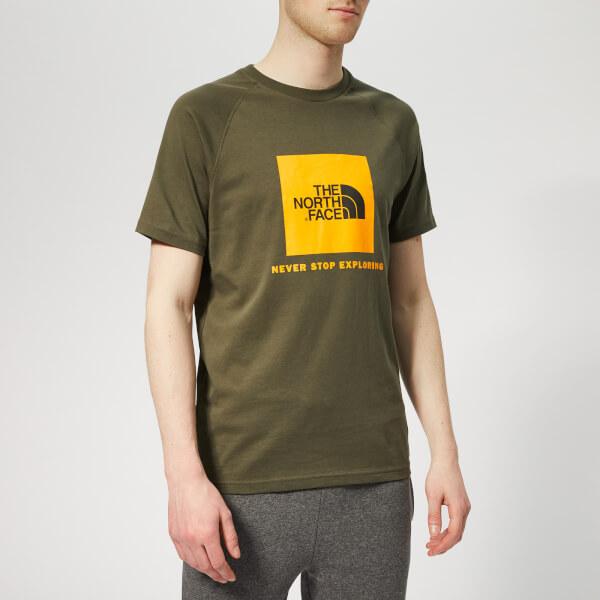 The North Face Men's Raglan Redbox Short Sleeve T-Shirt - New Taupe Green