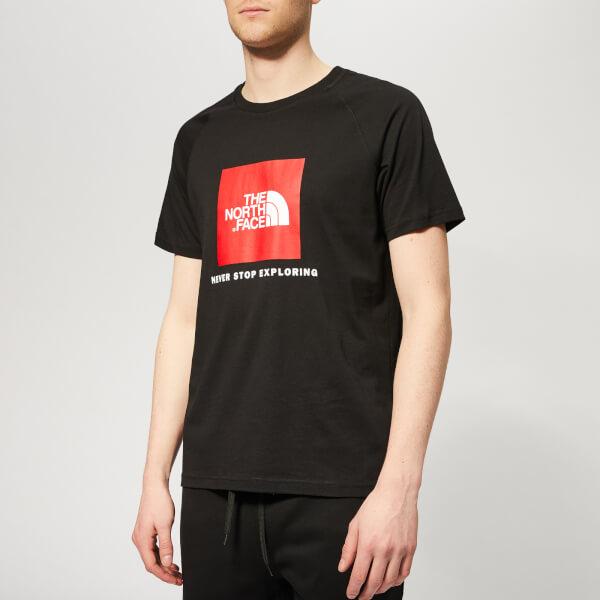 The North Face Men's Raglan Redbox Short Sleeve T-Shirt - TNF Black