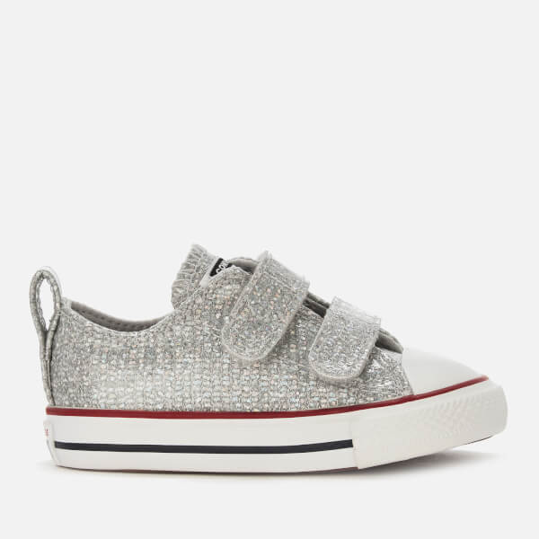 f7033c073f661c Converse Toddlers  Chuck Taylor All Star 2 Velcro Ox Trainers -  Mouse Enamel Red