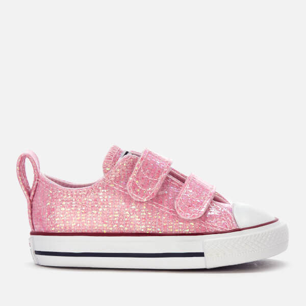 823ccd7a3039 Converse Toddlers  Chuck Taylor All Star 2 Velcro Ox Trainers - Pink Foam  Enamel
