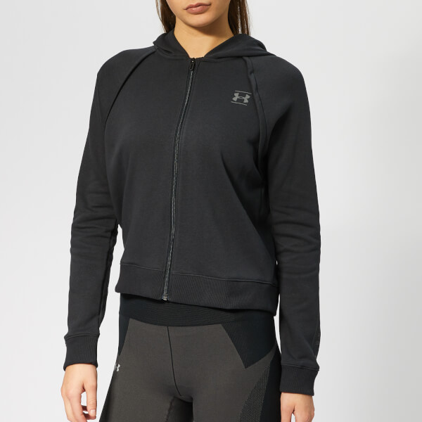 e2626a4f52e3 Under Armour Women s Rival Full Zip Fleece Hoodie - Black Sports ...