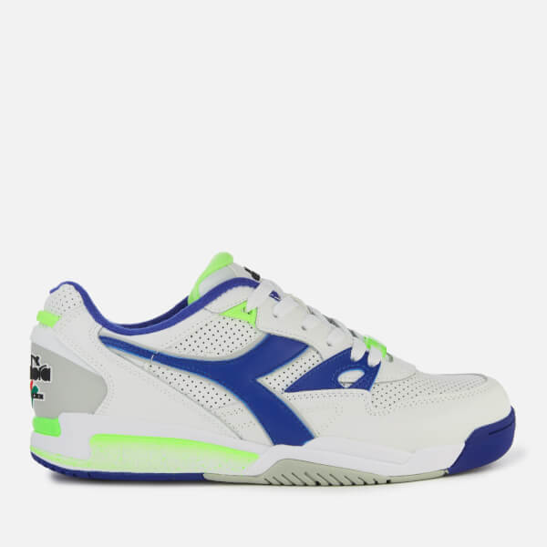 Diadora Men s Rebound Ace Trainers - White Imperial Blue  Image 1 f9fcb506fea