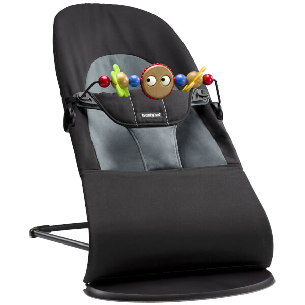 BABYBJÖRN Bouncer Soft and Soft Friends Bouncer Toy - Black and Grey