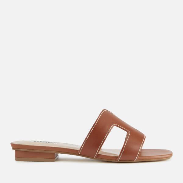 Dune Women's Loupe Leather Mule Sandals - Tan