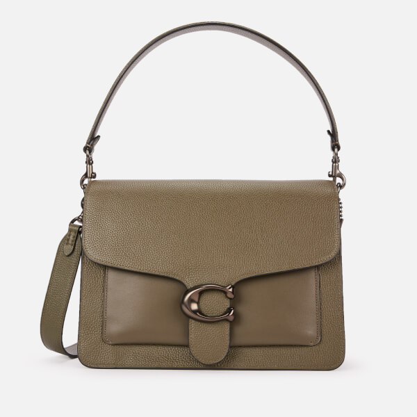 Coach Women's Mixed Leather Tabby Shoulder Bag - Moss
