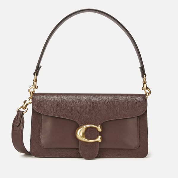 2b06a0922f Coach Women's Mixed Leather With Polished Pebble Tabby Shoulder Bag 26 -  Oxblood: Image 1