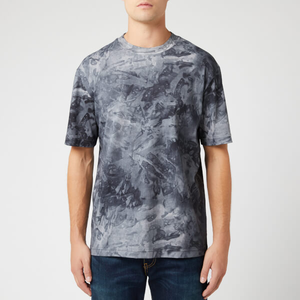BOSS Men's Taive Allover Marble T-Shirt - Concrete Camo