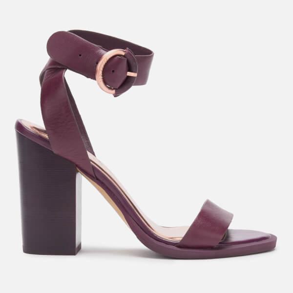 0f1dc9abd7 Ted Baker Women's Betciy Block Heeled Sandals - Purple | FREE UK ...