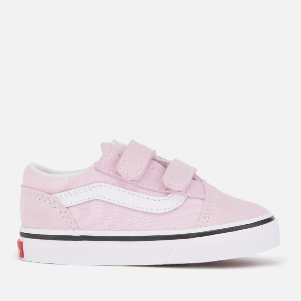 694c5b74cacb Vans Toddlers' Old Skool Velcro Trainers - Lilac Snow/True White: Image 1