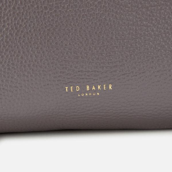 f4b38a89eecc Ted Baker Women's Clarkia Soft Grain Faceted Bar Shopper Bag - Charcoal:  Image 3