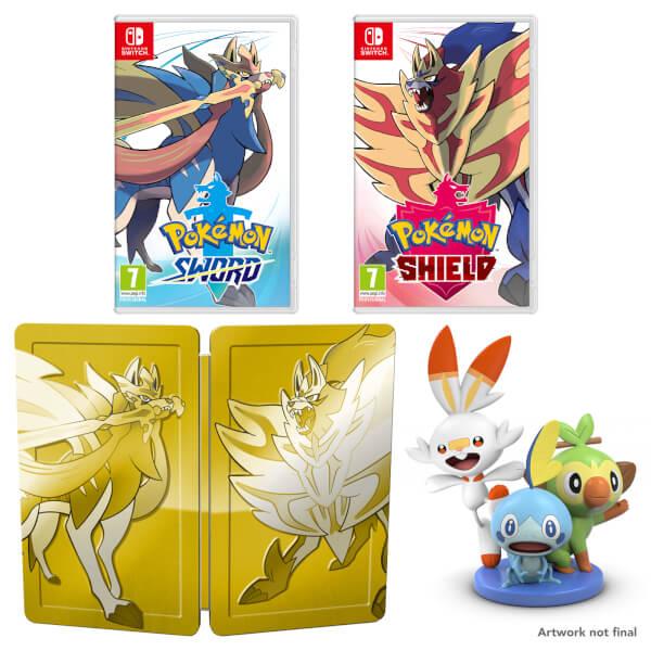 Pokémon Sword and Pokémon Shield Dual Pack + Figurine