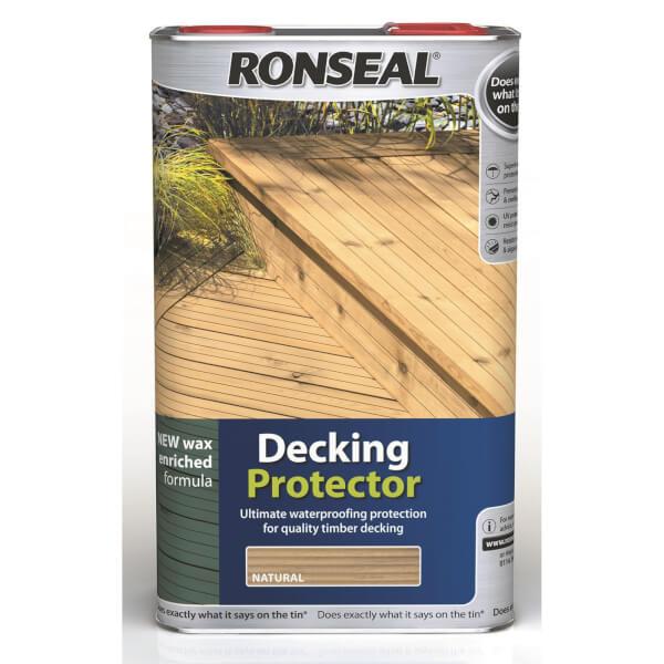 Ronseal Decking Protector Natural 5l Homebase