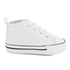 Converse Babies Chuck Taylor First Star Hi-Top Trainers - White: Image 1