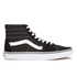 Vans Sk8-Hi Canvas Hi-Top Trainers - Black/White : Image 1