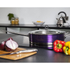Morphy Richards 46353 Accents Saute Pan with Glass Lid - Plum - 28cm: Image 2