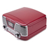 GPO Retro Memphis Turntable 4-in-1 Music System with Built in CD and FM Radio - Red: Image 4