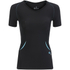 Skins Women's Coldblack Short Sleeve Top - Black/Blue: Image 1
