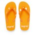 PE Beach Flip Flops with PVC Strap - Orange - Large: Image 1