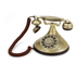 GPO Retro Duchess Telephone with Push Button Dial - Gold: Image 1
