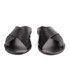 Ancient Greek Sandals Women's Thais Perforated Leather Slide Sandals - Black: Image 4