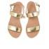 Ancient Greek Sandals Women's Clio Platform Leather Sandals - Platinum: Image 2
